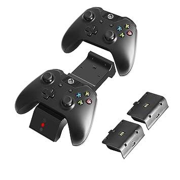 J&TOP - Cargador de Mando para Xbox One, One X, One S, One ...