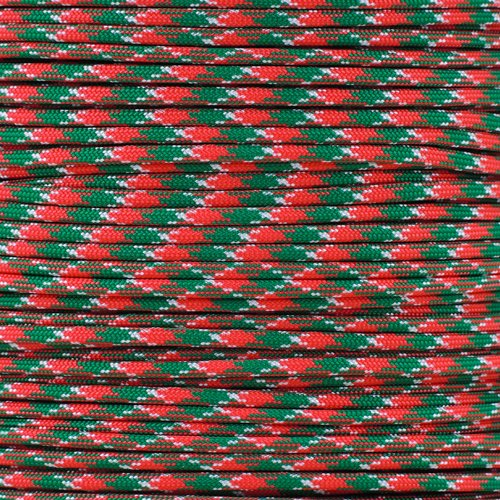 - PARACORD PLANET 550 Paracord - for Indoor and Outdoor Use - Outdoor Recreation, Crafting, and Home Improvement Cord (100 Feet, Holly Jolly)
