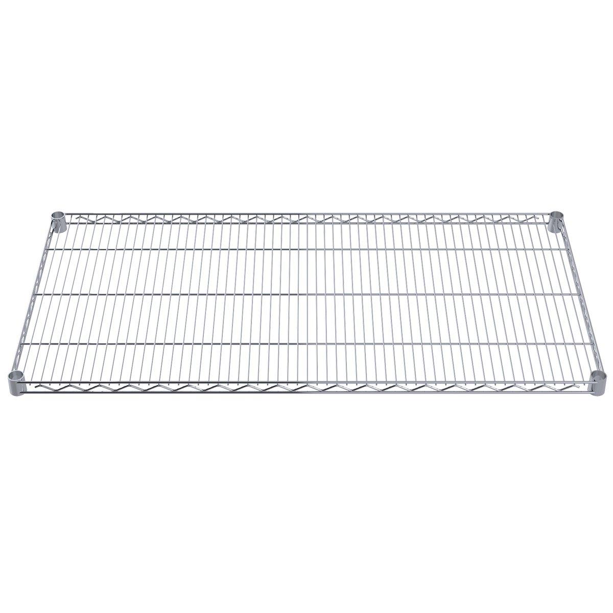 Akro-Mils AWS2448SHELF 24-Inch X 48-Inch NSF Approved Industrial Grade Chrome Wire Shelf, 4-Pack by Akro-Mils