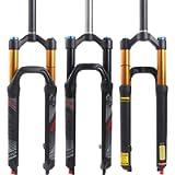 BUCKLOS LUTU 26/27.5/29 Air MTB Suspension Fork, Rebound Adjust Straight Tube 28.6mm QR 9mm Travel 120mm Manual/Crown…