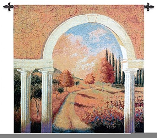 Pure Country Weavers Tuscan Archway Woven Wall Tapestry [Kitchen] - Tuscan Archway