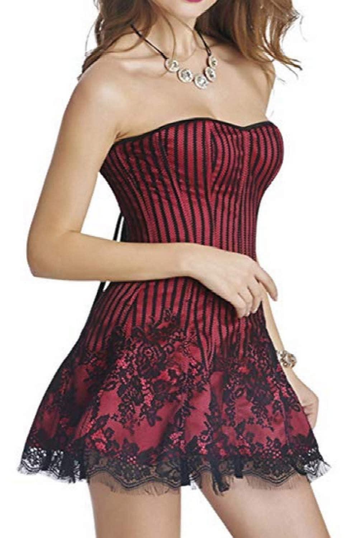 Beverla Basque Gothic Halloween Costume Party Dance Corset Dress