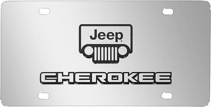 Jeep Wrangler 3D Dual Logo Black Stainless Steel License Plate