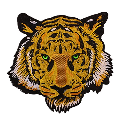 (1Pcs The Bengal Striped Tiger Embroidered Badge Iron On Sew On Patch)