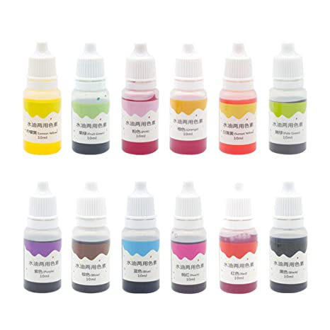 SUPVOX 16 Colors Dye Colorant Set for Bath Bomb Making,Soap Making, Bath  Bomb Colorant Skin Safe Coloring for Soap Making Supplies-10mL