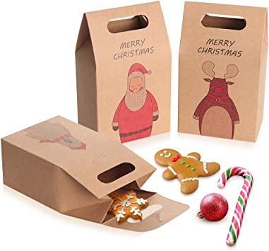 """200 x High Quality  10/"""" x 10/"""" Brown Kraft Paper Bags Fruits Sweets Packing Gifts"""