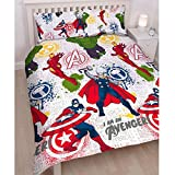 Duvet Covers and Matching Curtains Marvel Avengers Mission UK Double/US Full Duvet Set & Matching 66