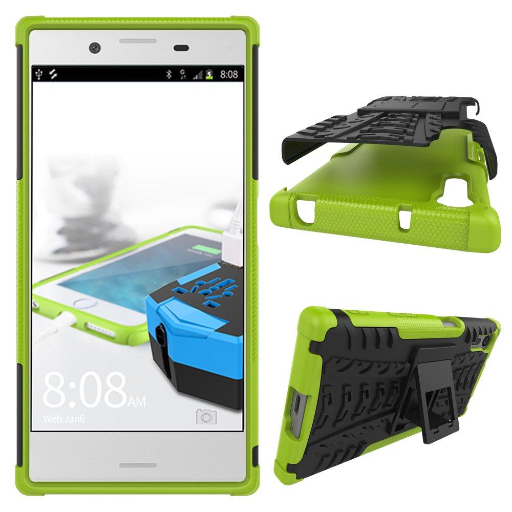 Bleu JARNING Compatible avec Sony Xperia XZ//F8331 F8332 Coque Protection T/él/éphone Hybrid Dual Layer Armor Design Case Cover /étui pour Sony Xperia XZ//F8331 F8332