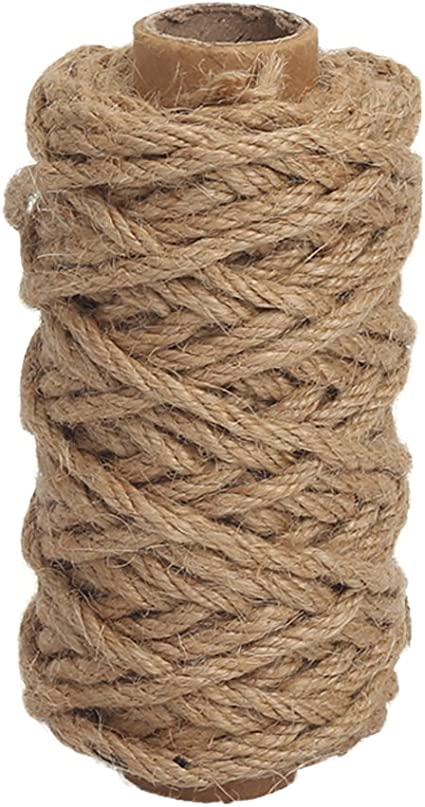 33 Feet Thick and Strong Natural Twine for... Tenn Well 6mm Jute Rope