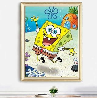5D Cartoon Spongebob Diamond Embroidery Cross Stitch Kit Home Decor Christmas Present 30x20cm