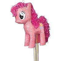 Paquete de 12Large My Little Pony Goodie–Bolsas de plástico, Piñatas, Rosado, Talla única