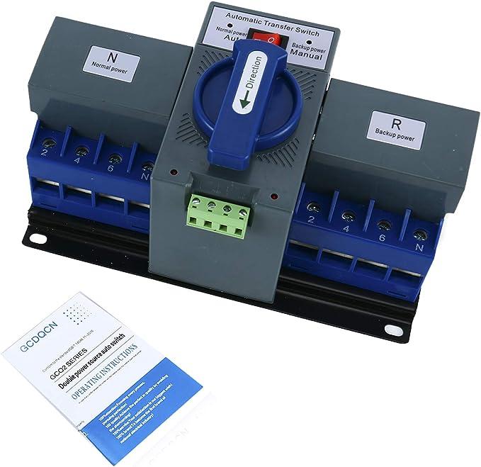 YaeTek 1PCS 63A 2P 50HZ/60HZ Dual Power Automatic Transfer Switch ...