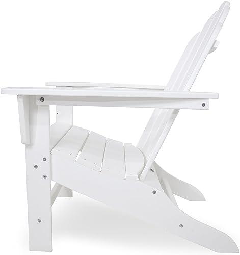POLYWOOD ECA15WH Long Island Adirondack Chair