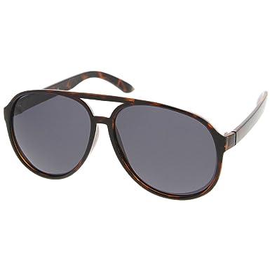 43dd262f286 zeroUV - Polarized Protective Lens Classic Teardrop Design Plastic Aviator  Sunglasses (Tortoise Smoke)