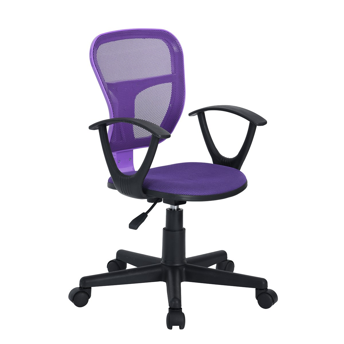 HOMY CASA Fabric Office Chair Mid Back Mesh Padded Swivel Desk Chair for Home Office (Fabric)