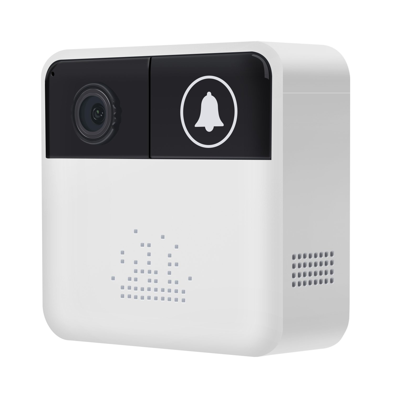 Smart Video Doorbell Wireless WiFi 720P Security Camera Mini Door Bells Real-Time Video Two-Way Talk, PIR Motion Detection, Night Vision App Control for iOS and Android