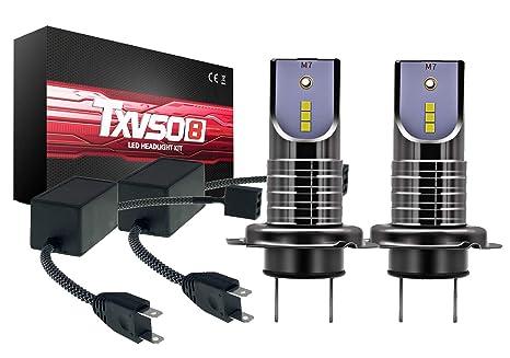 TXVSO 110W H7 LED Kit de reemplazo de faro 12000LM para lámparas halógenas de xenón,