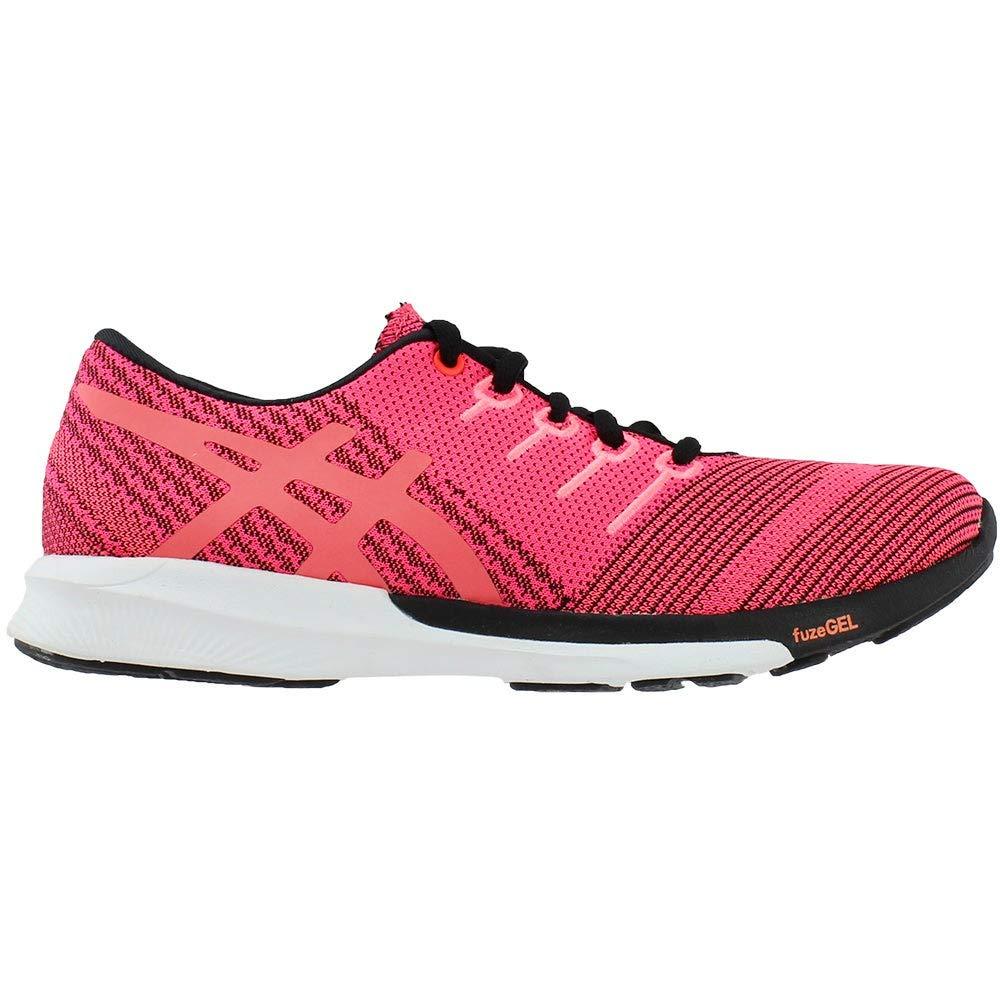 ASICS Frauen Fuzex Knit Low & Mid Tops Schnuersenkel Laufschuhe Pink Glo/Flash Coral/Black