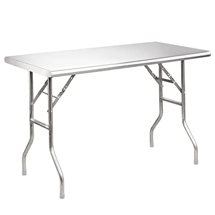 Amazoncom Royal Gourmet Stainless Steel Folding Work Table L - 8 ft stainless steel work table