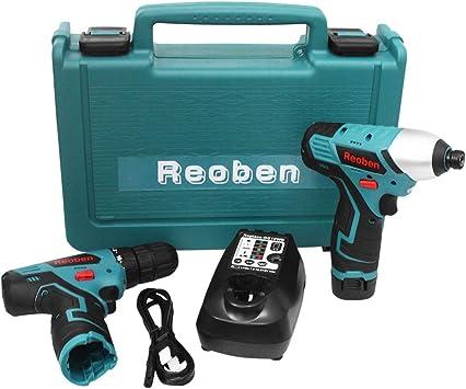 Reoben 2pcs Impact Driver Taladro electrico Twin Pack para Makita ...