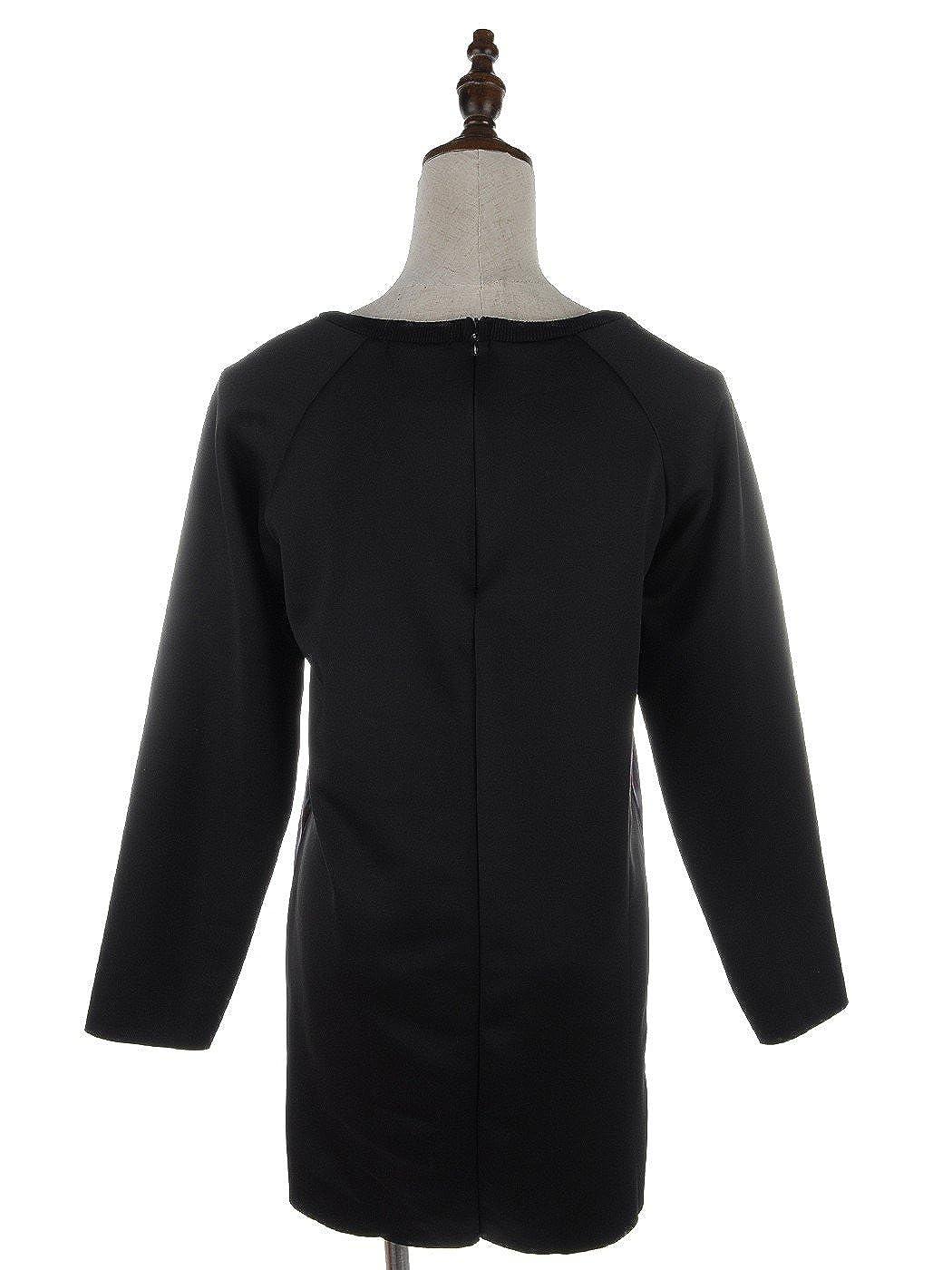 Anna-K S//M Fit Womens Lady Photo Print Long Sleeve Sweatshirt Black and Pink