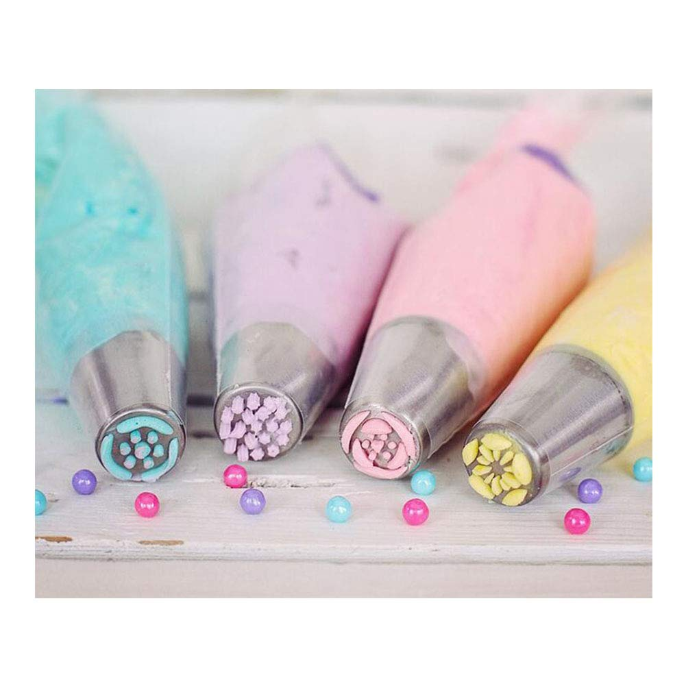 Russian Piping Tips Decorating Pen Frosting Tools Set Cake Decorating Nozzles with Silicone Piping Bags 13Pcs by Hemore (Image #3)