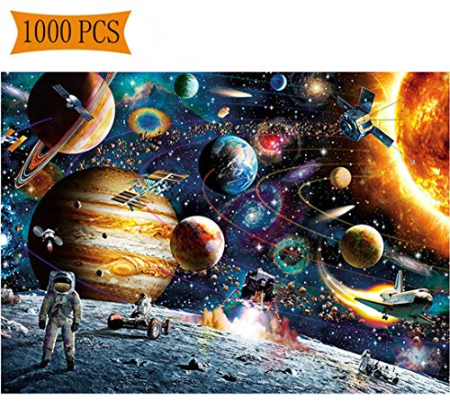 1000 Pieces Puzzles Adults Universe Jigsaw Puzzles Spacecraft Artwork Art Teen Adult Grown up Puzzles Large Size Toy Educational Games 1000 PCS Space -