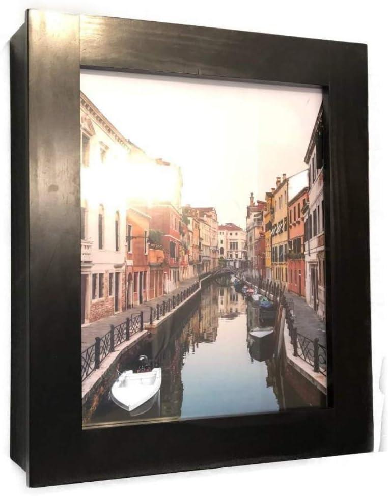 "Flip Frame - 21"" Espresso Medicine Cabinet, Wall Storage Desk, Over Toilet Cabinet, Spice Organizer"