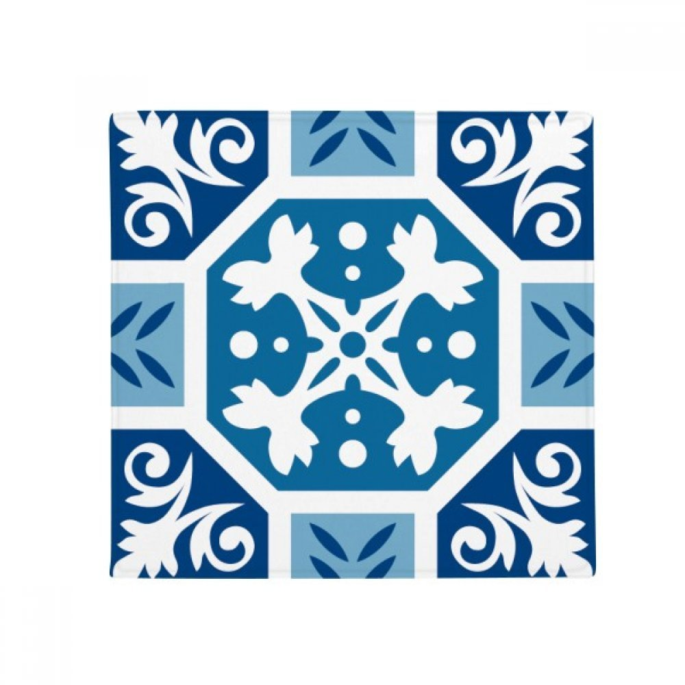 DIYthinker Mgoldcco Abstract Decorative bluee Pattern Anti-Slip Floor Pet Mat Square Home Kitchen Door 80Cm Gift
