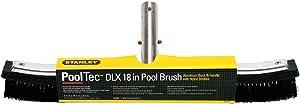 "Stanley 20872 18"" DLX Aluminum-Back Pool Brush"