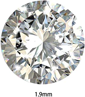 Lamdoo 1000PCS 1.0-3MM 5A Round Machine Cut White Cubic Zirconia Stone Loose CZ Stones