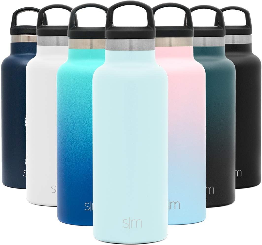 Simple Modern Ascent 500mL Botella de Agua de Acero Inoxidable con Tapa de Asa, Botella Termica con Boca Estrecha, Aislada al Vacío, Doble Pared, Termo sin BPA para Deporte o Viaje, Prueba de Fugas