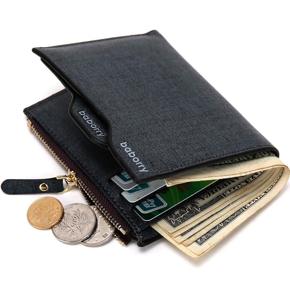 WngLei Explosive Brieftasche Männer Brieftasche Kartenpaket Kurze Brieftasche Männer Anti-Radiofrequenz-Identifikation RFID (Farbe   Blau) B07KDCFJ93 Geldbrsen