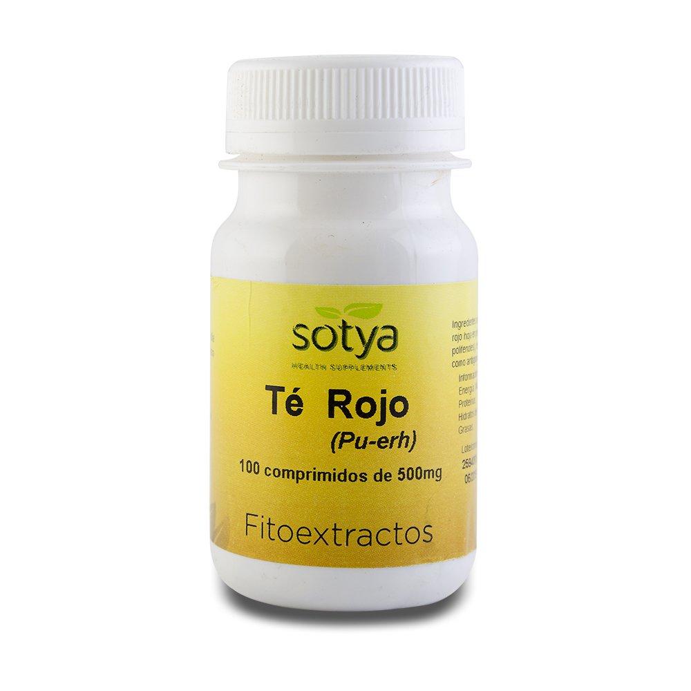 SOTYA - SOTYA Té Rojo 100 comprimidos 500 mg: Amazon.es: Salud y cuidado personal