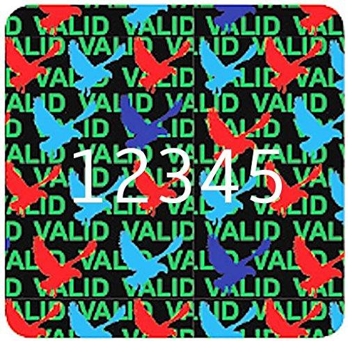 Mittlere 15mm Quadratische Hologramm-Aufkleber NUMMERIERTE, VALID   DOVE, Silber-Aufkleber, Manipulationsgeschütztes, Gültig   Taube, Sichern, Garantie, Sicherheit, Hologramm Etiketten, Selbstklebend, Hologramm Aufkleber, Sicherheitssiegel, Gara