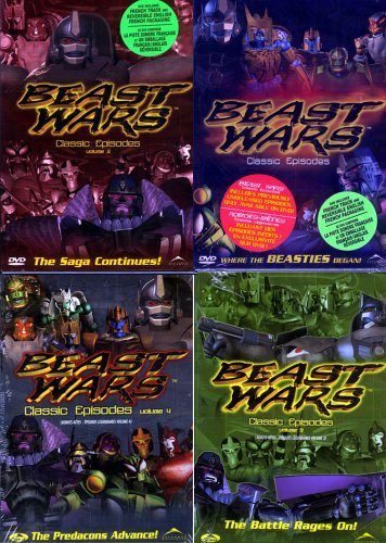 - Beast Wars - Classic Episodes 4 Pack (Vol. 1,2,3 and 4)
