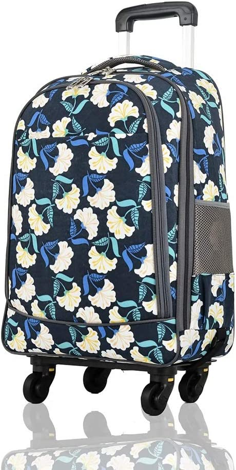 Color : Flower18, Size : 365923 Travel Bags Trolley Case 20 Inches Universal Wheel Boarding Baggage Luggage Suitcases Carry On Hand Luggage Durable Hold Tingting