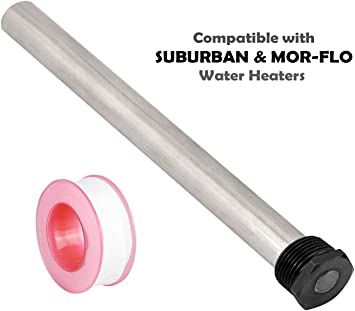 Diximus Rv Water Heater Anode Rod Magnesium Anode Rod 9 25 Long 3 4 Thread Long Lasting Tank Corrosion Protection Compatible With Suburban And Mor Flo Water Heater Tanks Amazon Com