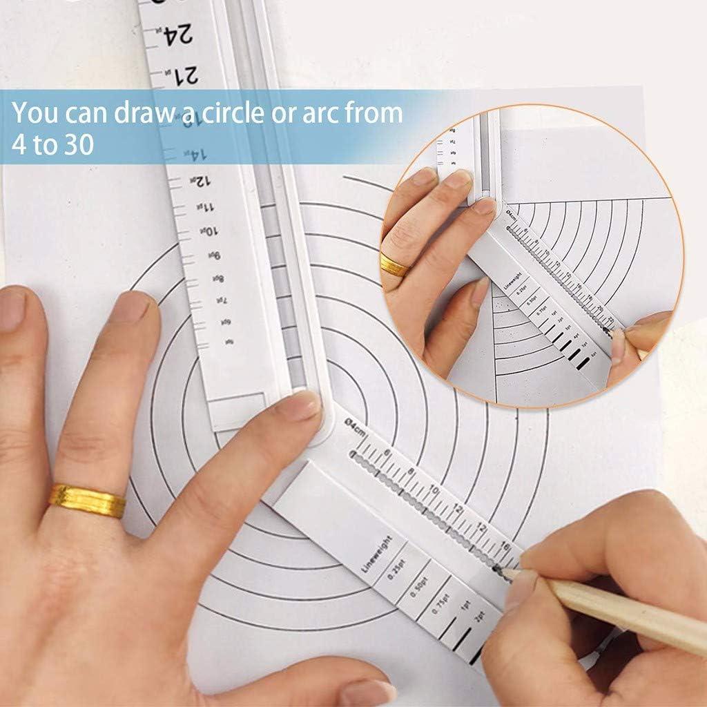 Moent Outils et am/élioration de lhabitat R/ègle en Plastique multifonctionnelle R/ègle Standard//m/étrique de 12 Pouces R/ègle Droite R/ègle ABS