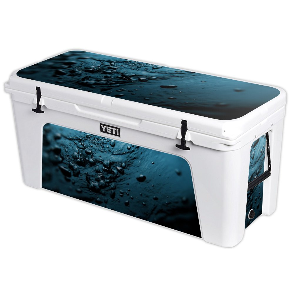 MightySkins Protective Vinyl Skin Decal for YETI Tundra 160 qt Cooler wrap Cover Sticker Skins Blue Storm