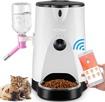 LOME Smart Feeder Pet Food and Water Dispenser with HD Night Vision Camera