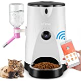 Automatic Pet Feeder, LOME Smart Feeder Pet Food and Water Dispenser with Real-Time HD Night Vision Camera for Dogs & Cats,Wi-Fi Enabled App for iPhone and Android