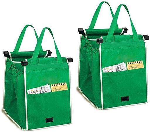 Amazon.com: 2 bolsas reutilizables para carrito de la compra ...
