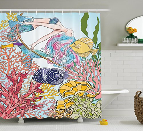 Ambesonne Creature Swinging Underwater Bathroom product image