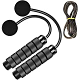 LEKEONE Weighted Ropeless Jump Rope,Switchable Dual Mode Ropeless and Corded Jump Rope with Memory Foam Handle…