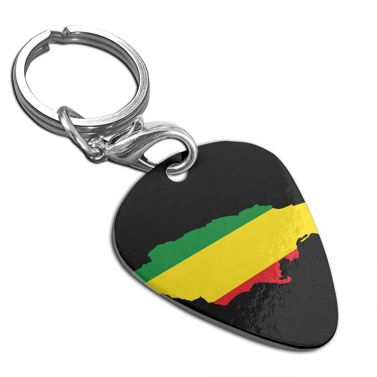Flag Map Of Jamaica Guitar Pick Necklace Unique Custom Fashion Pet Card Keychain