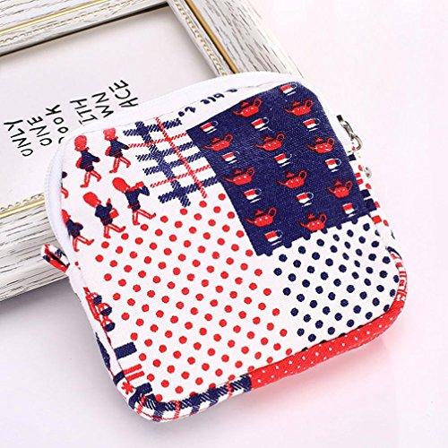 la lindos servilleta el de RETUROM Rojo Para o muchacha mujer sanitaria para la de Bolsos toalla dinero Bolsos la IqzSH1ffgw