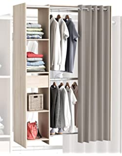 Begehbarer kleiderschrank stars  habeig Begehbarer Kleiderschrank Vorhang Schrank Weiss Wandschrank ...