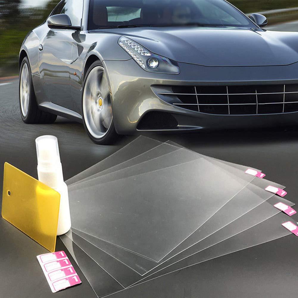 Luyao 4pcs film de r/étroviseur de voiture anti-pluie incolore transparent film hydrophobe bricolage couture durable