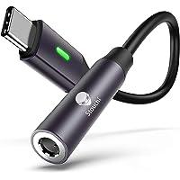 USB C to 3.5mm Dongle Adapter, Stouchi 384KHz-32bit USB C Headphone Audio Jack Adapter Type C to 3.5mm Adapter Hi-Fi DAC…